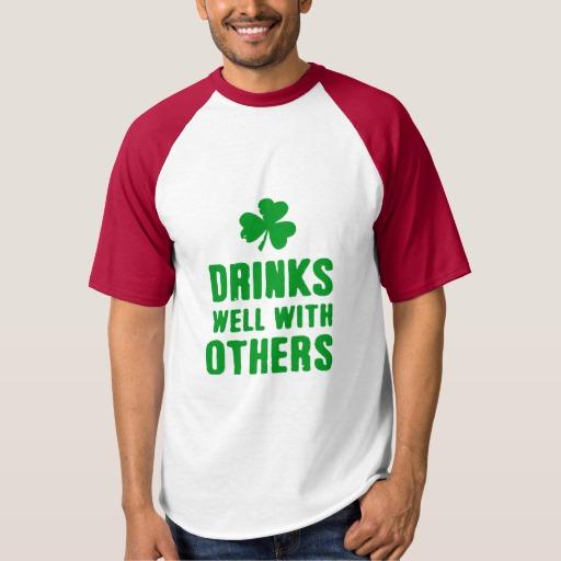 Drinks Well With Others Men's Raglan Baseball T-Shirt