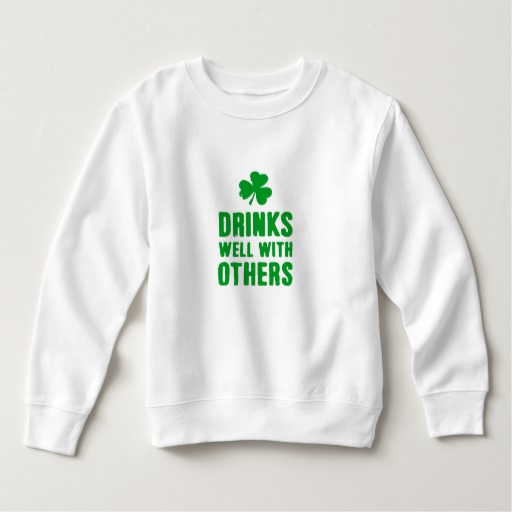 Drinks Well With Others Toddler Fleece Sweatshirt