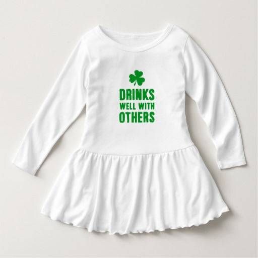 Drinks Well With Others Toddler Ruffle Dress