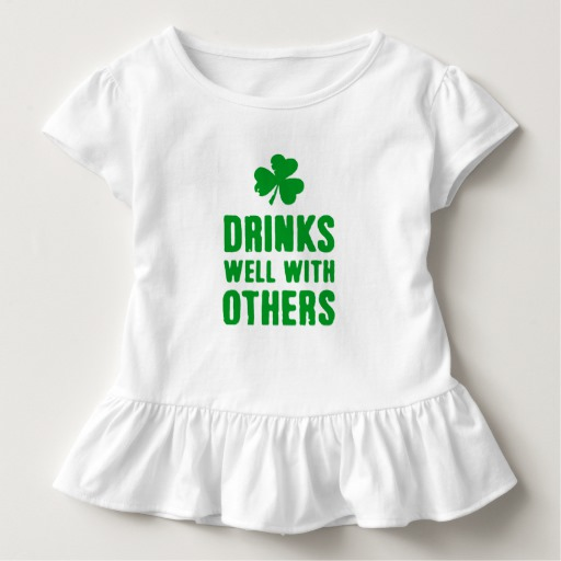 Drinks Well With Others Toddler Ruffle Tee