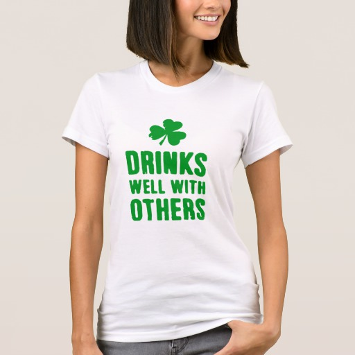Drinks Well With Others Women's American Apparel Fine Jersey T-Shirt