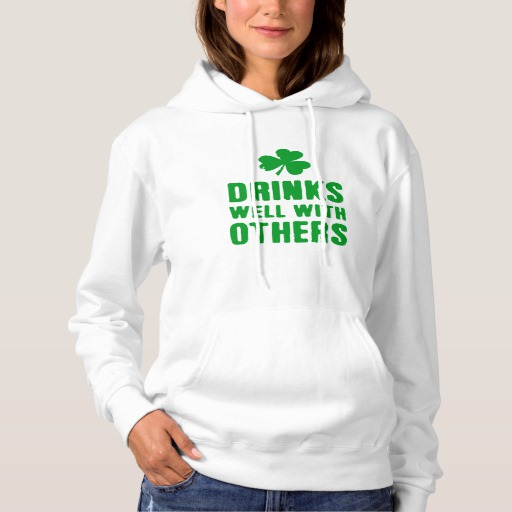 Drinks Well With Others Women's Basic Hooded Sweatshirt