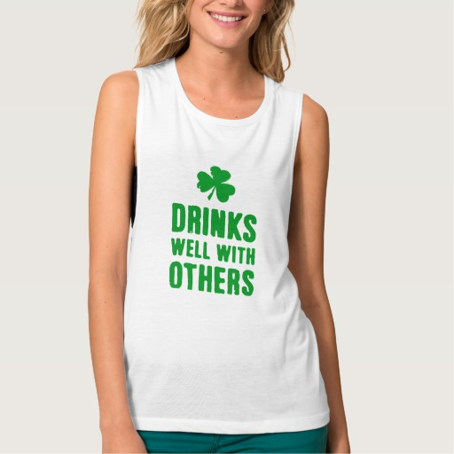 Drinks Well With Others Women's Bella+Canvas Flowy Muscle Tank Top
