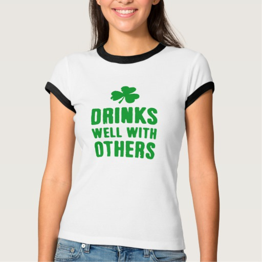 Drinks Well With Others Women's Bella+Canvas Ringer T-Shirt