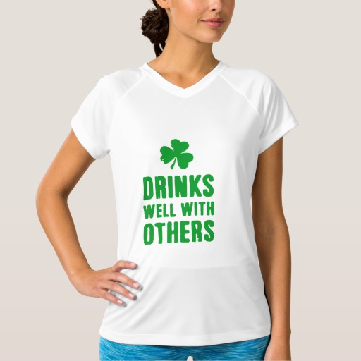 Drinks Well With Others Women's Champion Double-Dry V-Neck T-Shirt