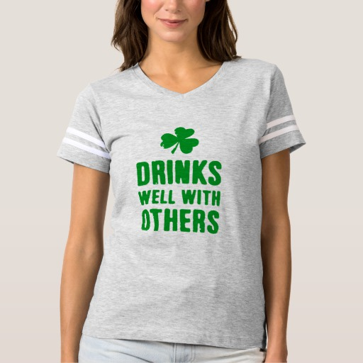 Drinks Well With Others Women's Football T-Shirt