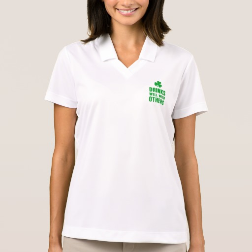 Drinks Well With Others Women's Nike Dri-FIT Pique Polo Shirt
