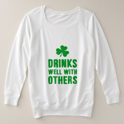 Drinks Well With Others Women's Plus-Size French Terry Sweatshirt