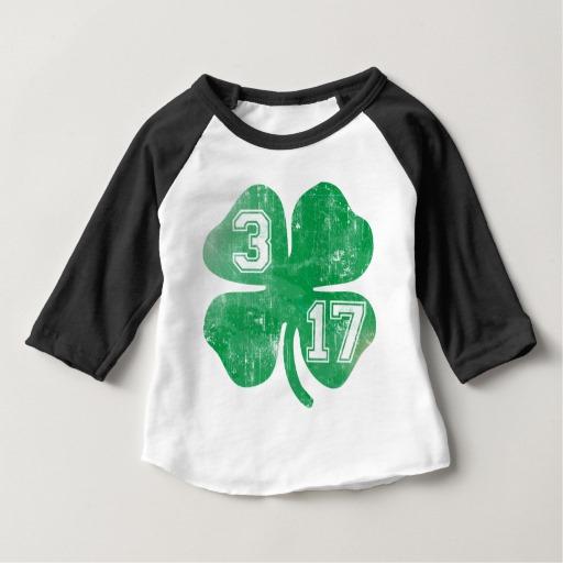 Shamrock 3-17 Baby American Apparel 3/4 Sleeve Raglan T-Shirt