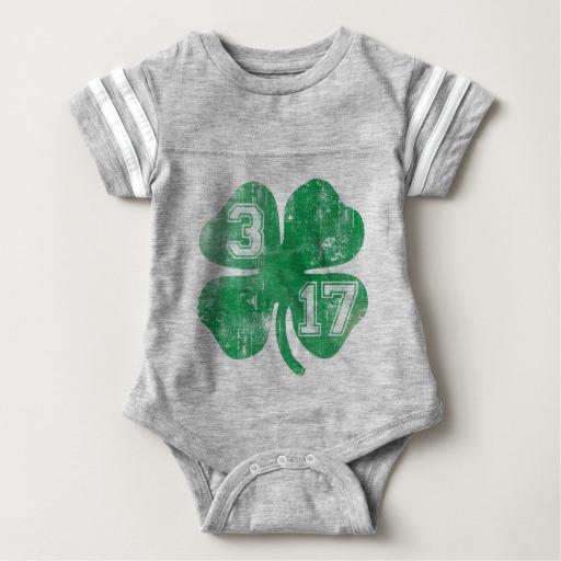 Shamrock 3-17 Baby Football Bodysuit