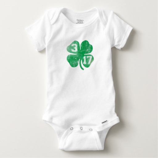 Shamrock 3-17 Baby Gerber Cotton Onesie