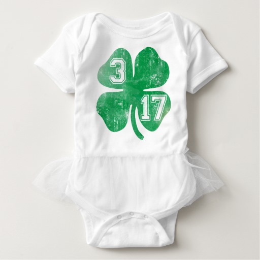 Shamrock 3-17 Baby Tutu Bodysuit