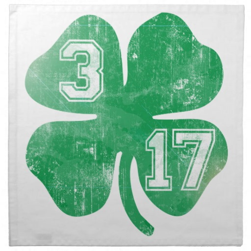"Shamrock 3-17 Cloth Napkins (set of 4) dinner 20"" x 20"""