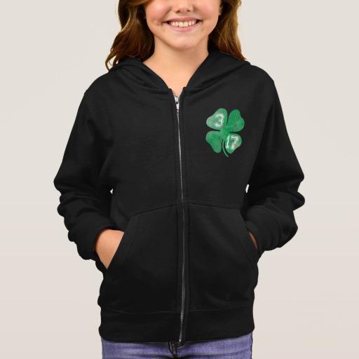 Shamrock 3-17 Girl's Basic Zip Hoodie