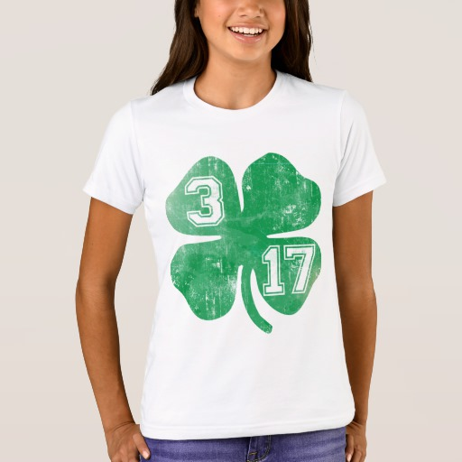 Shamrock 3-17 Girls' Bella+Canvas Crew T-Shirt