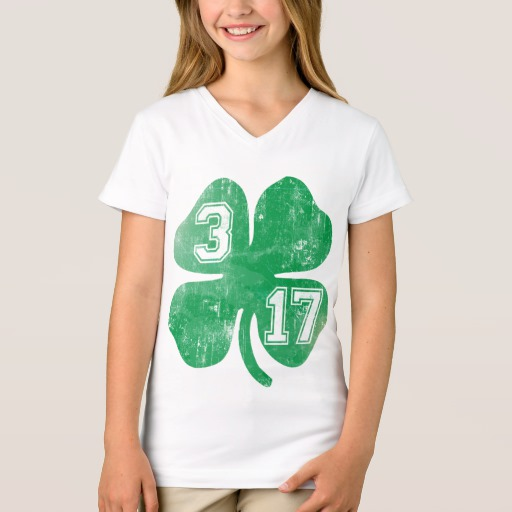 Shamrock 3-17 Girls' Fine Jersey V-Neck T-Shirt
