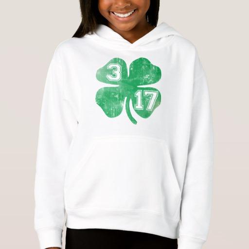 Shamrock 3-17 Girls' Fleece Pullover Hoodie