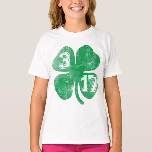 Shamrock 3-17 Girls' Hanes TAGLESS® T-Shirt