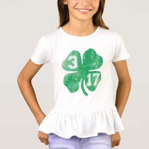 Shamrock 3-17 Girls' Ruffle T-Shirt