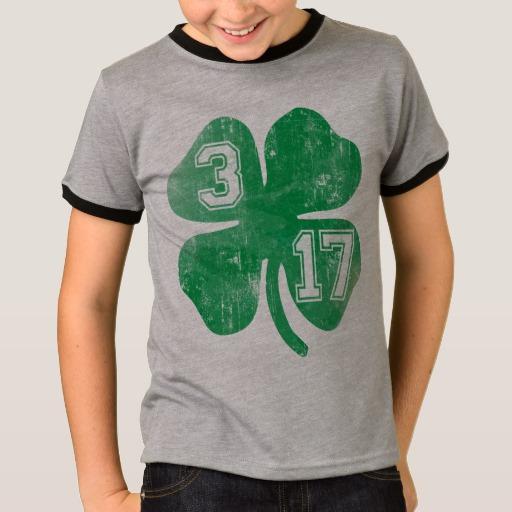 Shamrock 3-17 Kids' Basic Ringer T-Shirt
