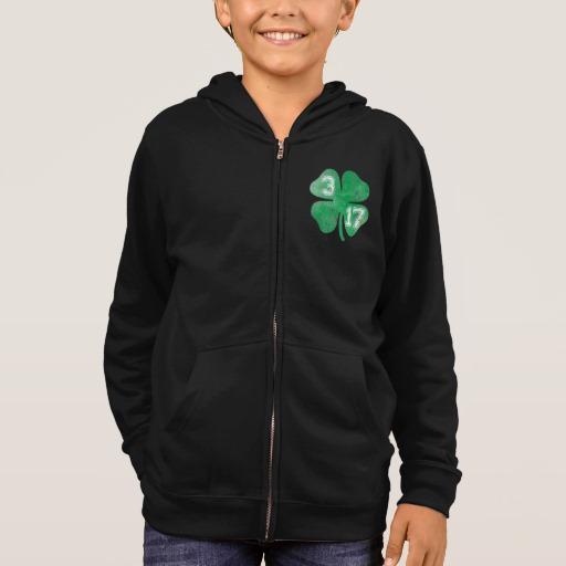 Shamrock 3-17 Kids' Basic Zip Hoodie