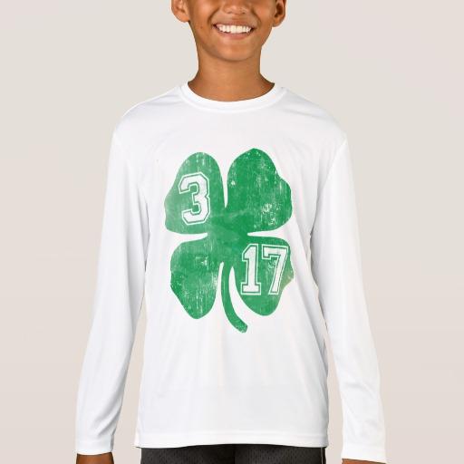 Shamrock 3-17 Kids' Sport-Tek Competitor Long Sleeve T-Shirt