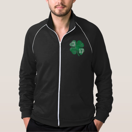 Shamrock 3-17 Men's American Apparel California Fleece Track Jacket