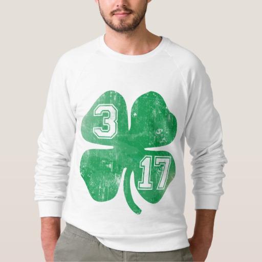 Shamrock 3-17 Men's American Apparel Raglan Sweatshirt