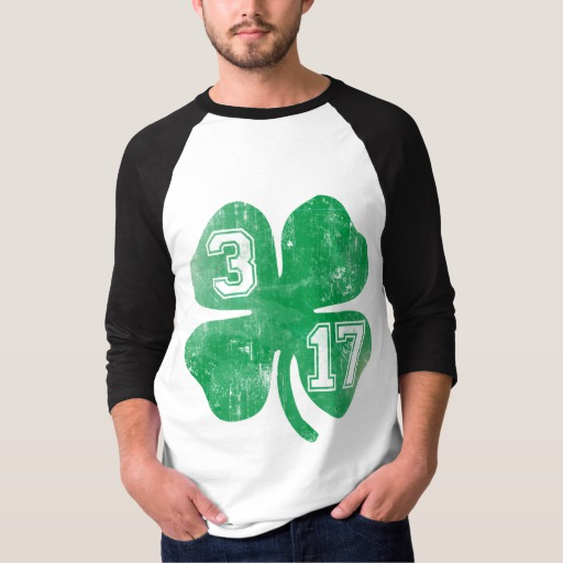Shamrock 3-17 Men's Basic 3/4 Sleeve Raglan T-Shirt