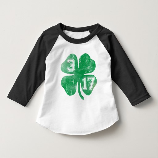 Shamrock 3-17 Toddler American Apparel 3/4 Sleeve Raglan T-Shirt