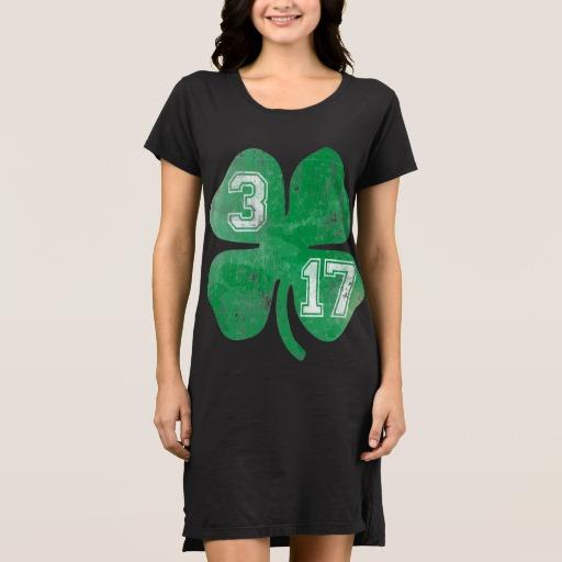 Shamrock 3-17 Women's Alternative Apparel T-Shirt Dress