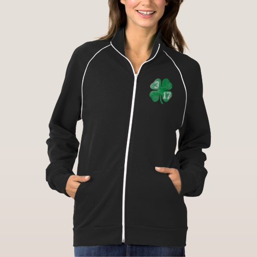 Shamrock 3-17 Women's American Apparel California Fleece Track Jacket