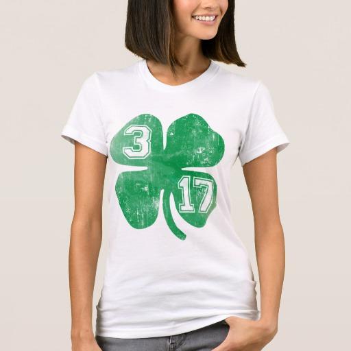 Shamrock 3-17 Women's American Apparel Fine Jersey T-Shirt