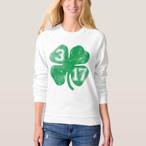 Shamrock 3-17 Women's American Apparel Raglan Sweatshirt