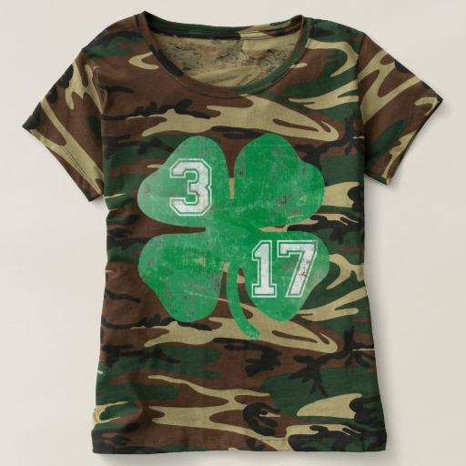 Shamrock 3-17 Women's Camouflage T-Shirt