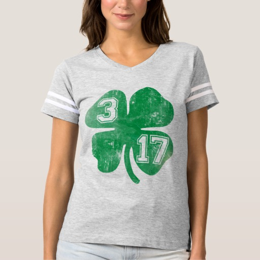 Shamrock 3-17 Women's Football T-Shirt