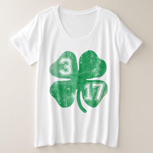 Shamrock 3-17 Women's Plus-Size Basic T-Shirt