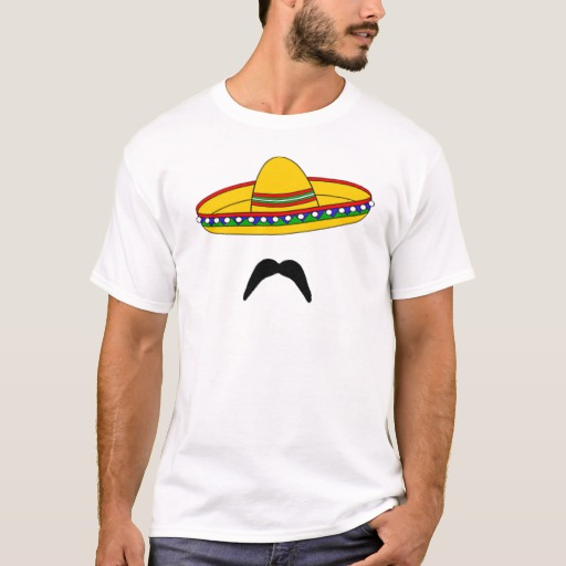 Mustache and Sombrero Basic T-Shirt