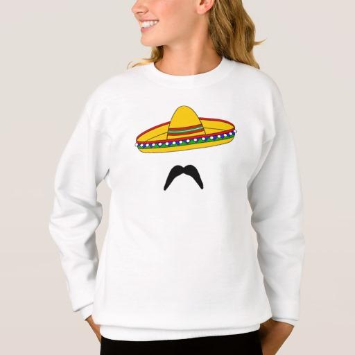Mustache and Sombrero Girls' Hanes ComfortBlend® Sweatshirt