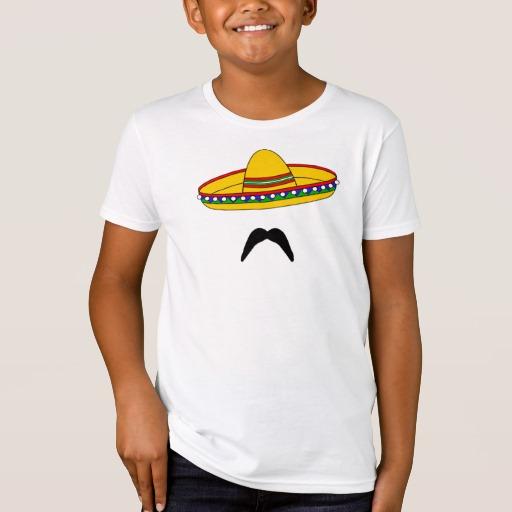 Mustache and Sombrero Kids' American Apparel Organic T-Shirt