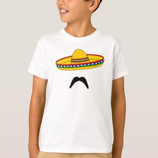 Mustache and Sombrero Kids' Hanes TAGLESS® T-Shirt