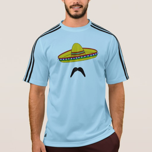 Mustache and Sombrero Men's Adidas ClimaLite® T-Shirt