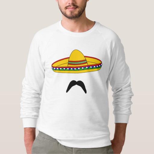 Mustache and Sombrero Men's American Apparel Raglan Sweatshirt