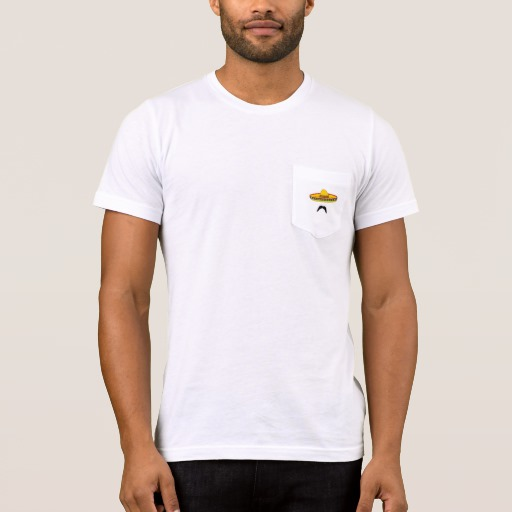 Mustache and Sombrero Men's Bella+Canvas Pocket T-Shirt