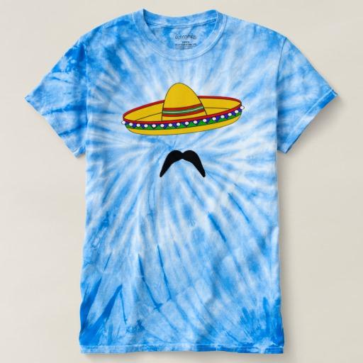 Mustache and Sombrero Men's Cyclone Tie-Dye T-Shirt