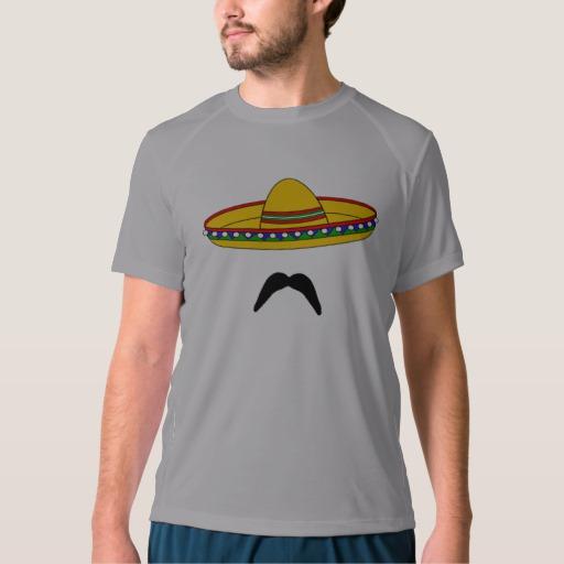 Mustache and Sombrero Men's New Balance T-Shirt