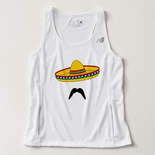 Mustache and Sombrero Men's New Balance Tempo Running Tank Top