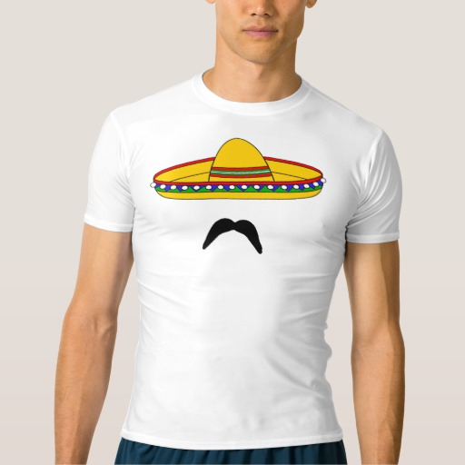 Mustache and Sombrero Men's Performance Compression T-Shirt