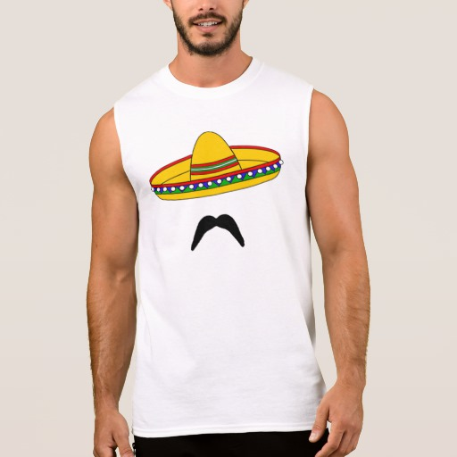 Mustache and Sombrero Men's Ultra Cotton Sleeveless T-Shirt