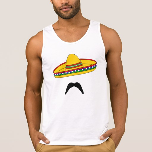 Mustache and Sombrero Men's Ultra Cotton Tank Top